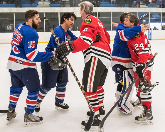 USA Warriors Standing vs Blackhawks Alumni