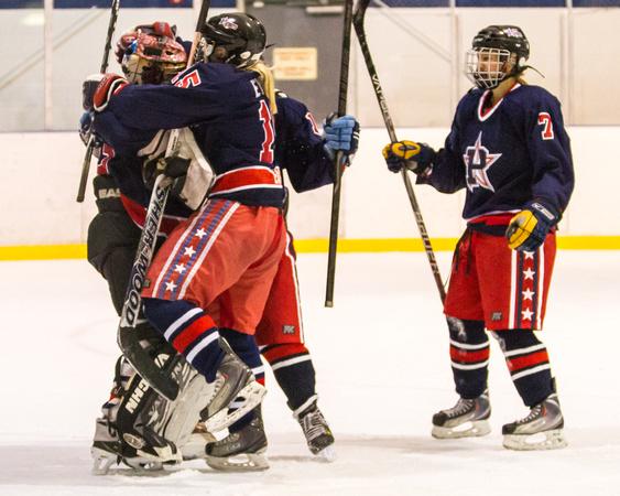 Hockey Girls Women Raiders Patriots