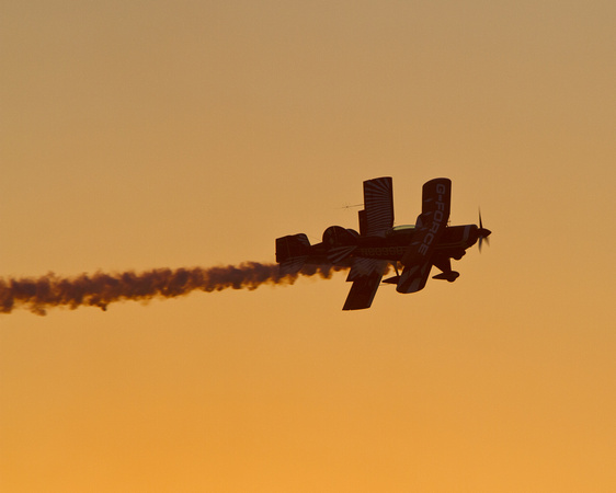 Sunset, Twilight, Aircraft, Airshow, Red Eagle, Biplane