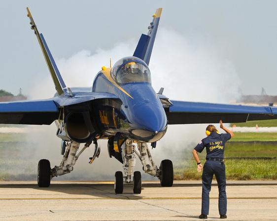 Blue Angel Angels Crew Chief Smoke Preflight Check
